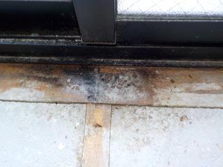 窓枠下の体液反応
