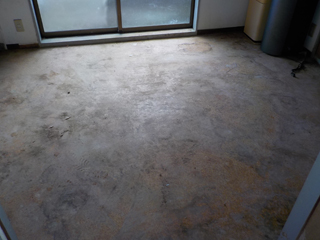 キッチン床のアフター