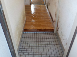 玄関のアフター(清掃後)