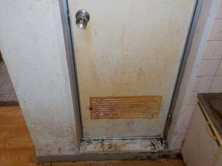 浴室扉のビフォア(清掃後)