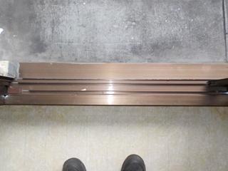 1部屋目の窓枠のアフター(清掃後)