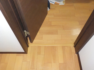 寝室入口のアフター