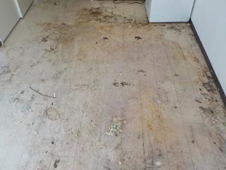 床の撤去後